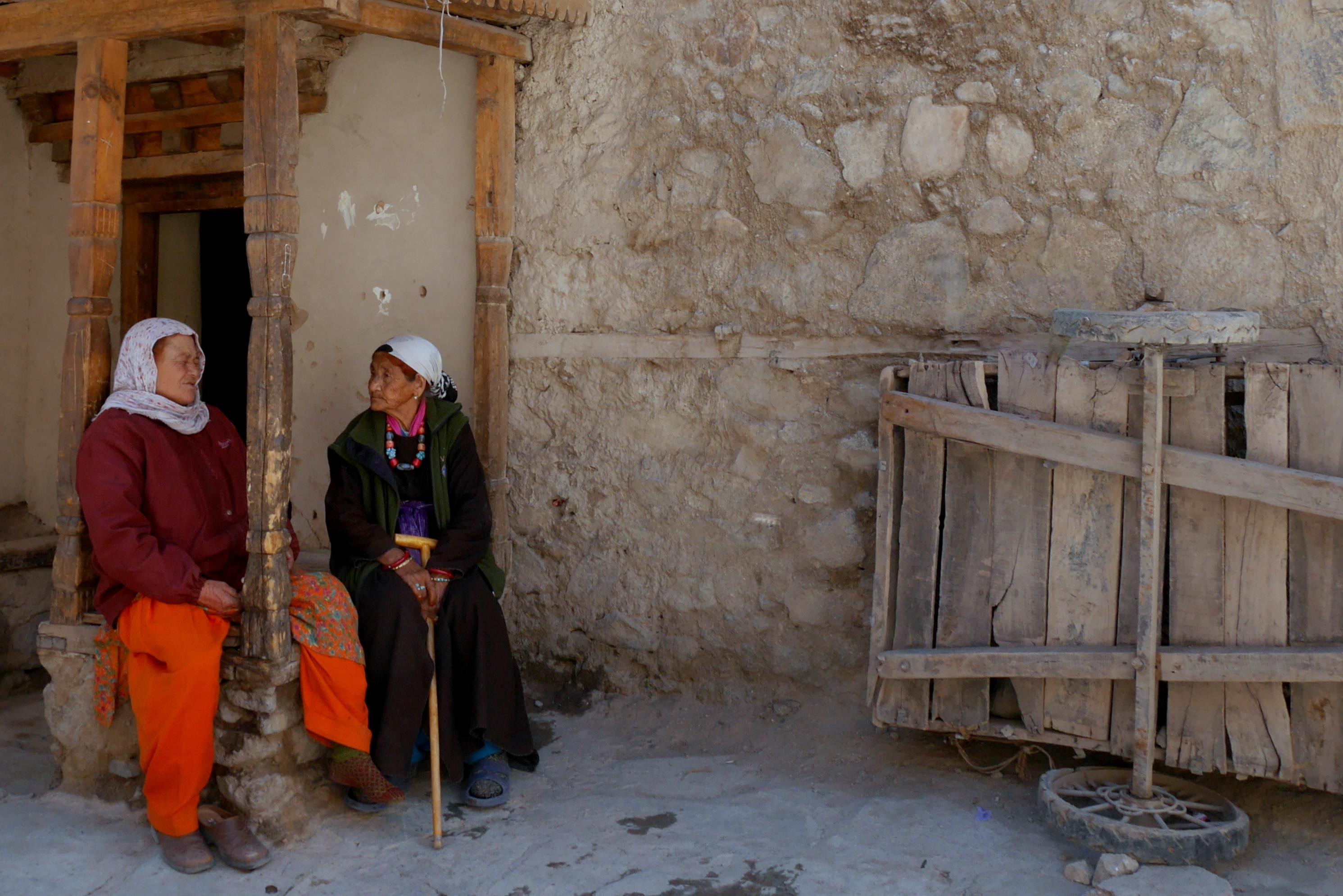Femmes ladakhi, Vieux Leh