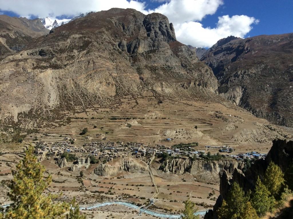 Annapurnas Manang (3540m), capitale de district