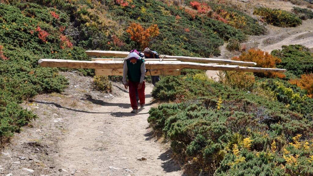 Tour nord des Annapurnas - Porteurs népalais