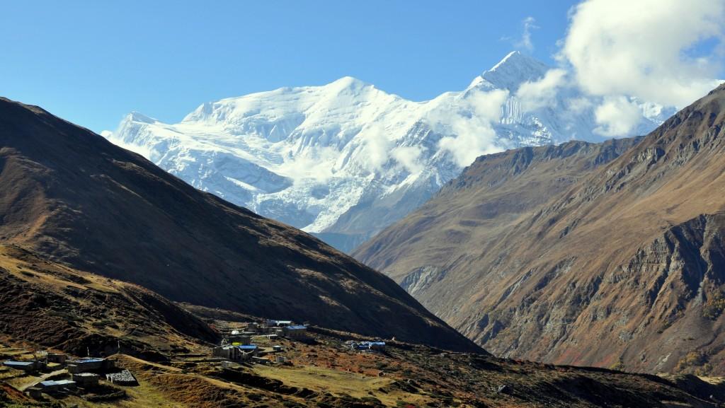 Tour nord des Annapurnas - Annapurna III Gangapurna depuis Yak Kharka