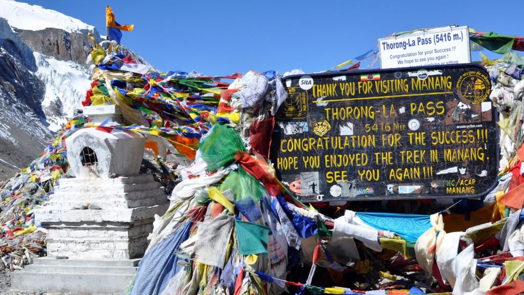 Tour nord des Annapurnas - Passage du col de Thorung La (5416m)