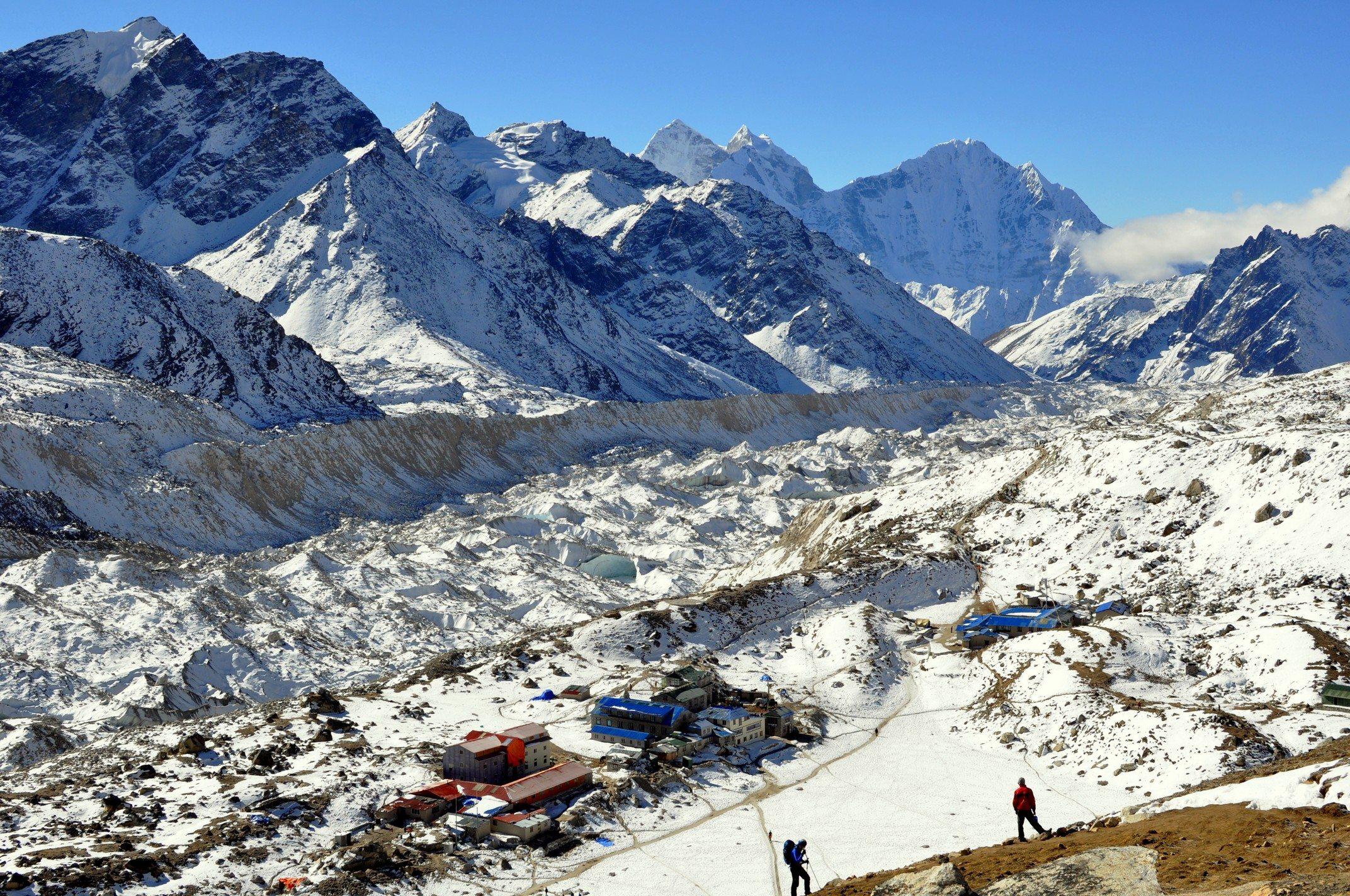 Trek du camp de base de l'Everest Gorak Shep (5160m) et glacier du Khumbu