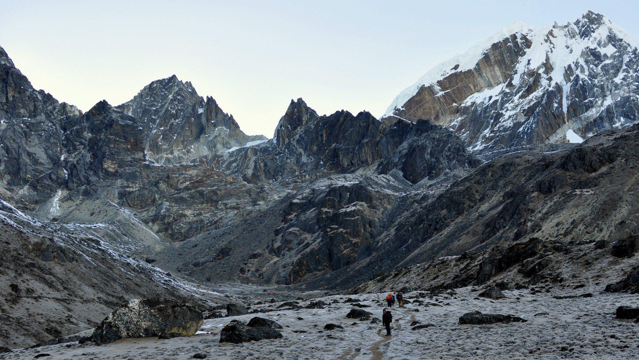 Aurore, vers le col de Cho La, 4900m