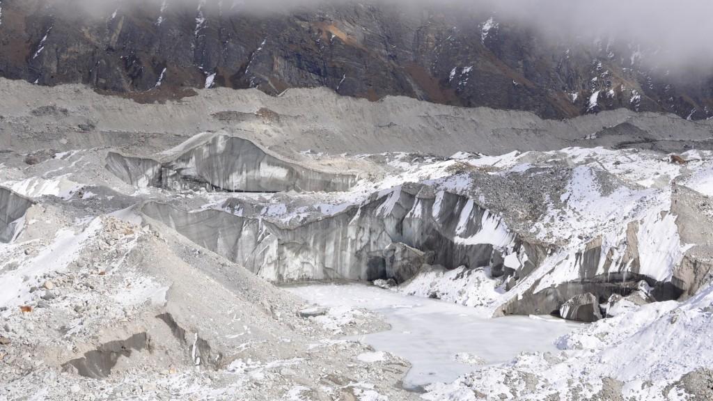 Glacier de Ngozumba, vue Sud
