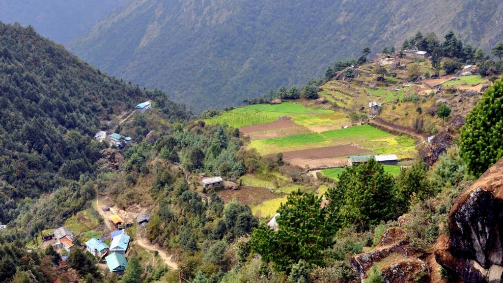 Village de Bom, depuis Lukla