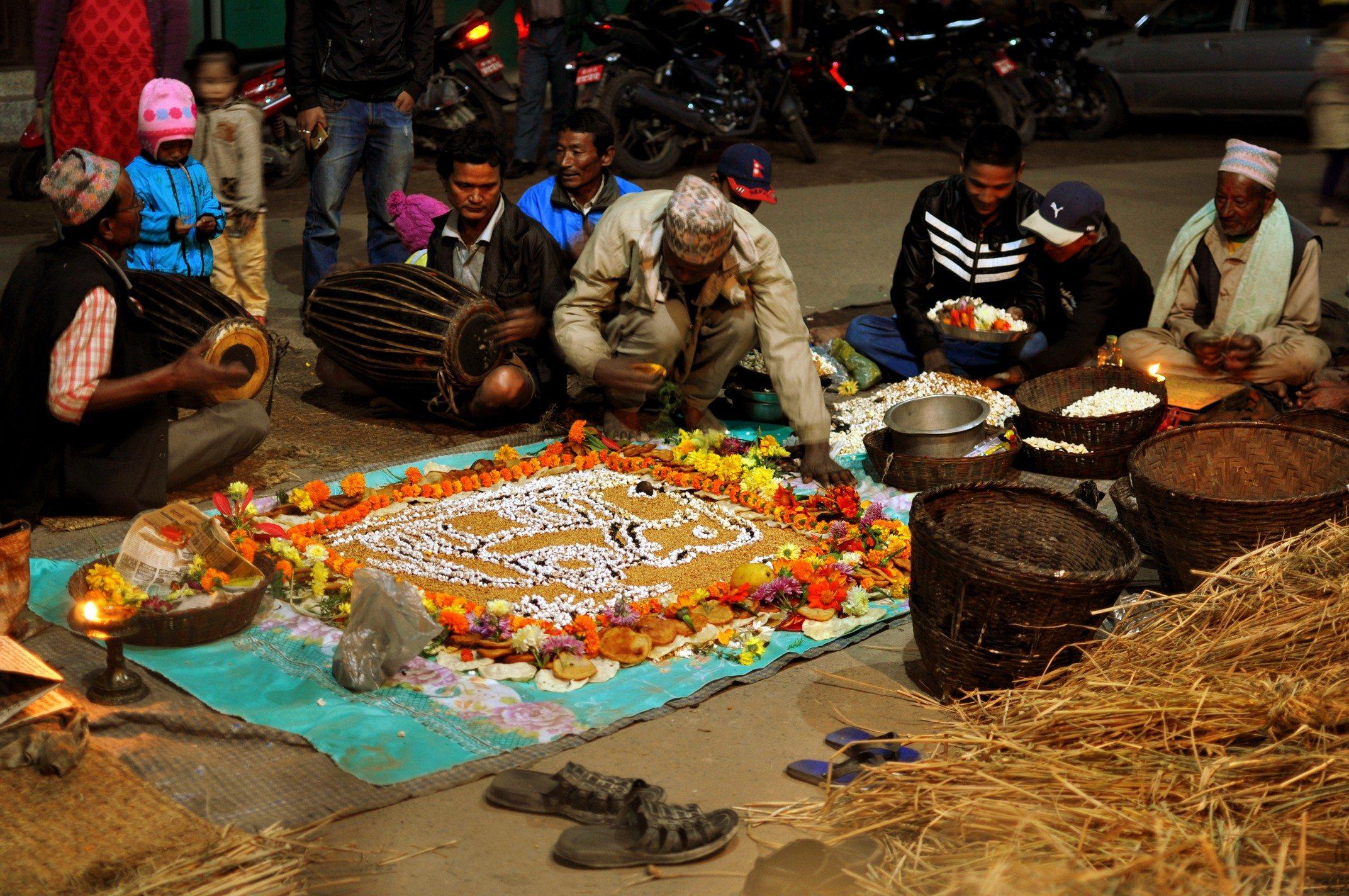 Vallée de Katmandou - Bhaktapur, célébration de la pleine lune