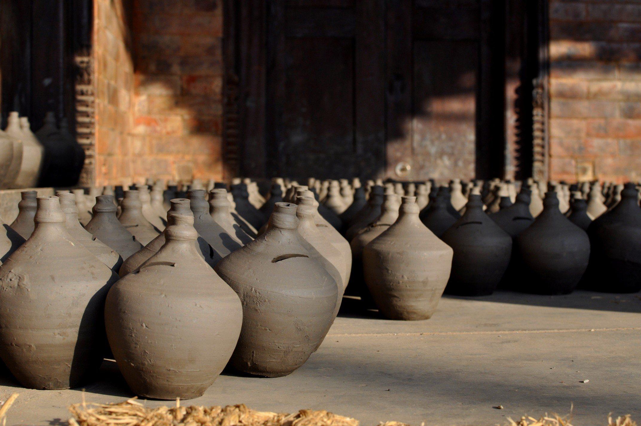 Vallée de Katmandou - Bhaktapur, poteries