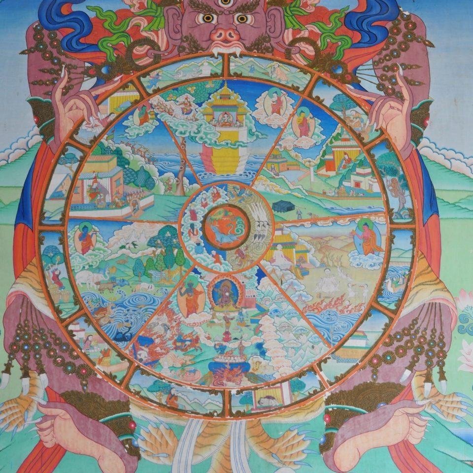 Bodnath, Pal Dilyak Gompa, Cercle de vie