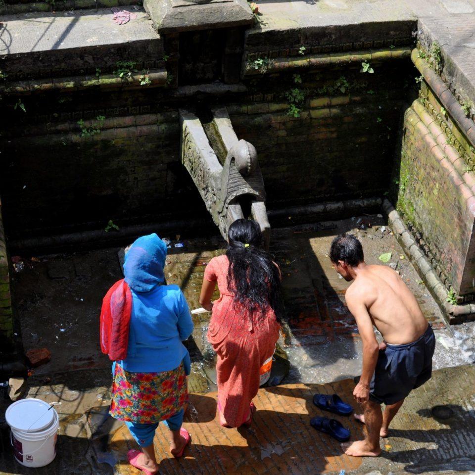 Katmandou, vieille ville. Réservoir