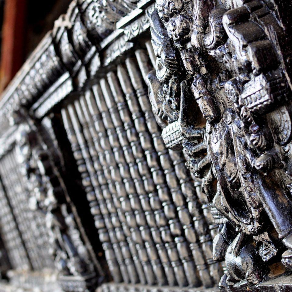 Katmandou, Durbar Square. Temple de Krishna, détail