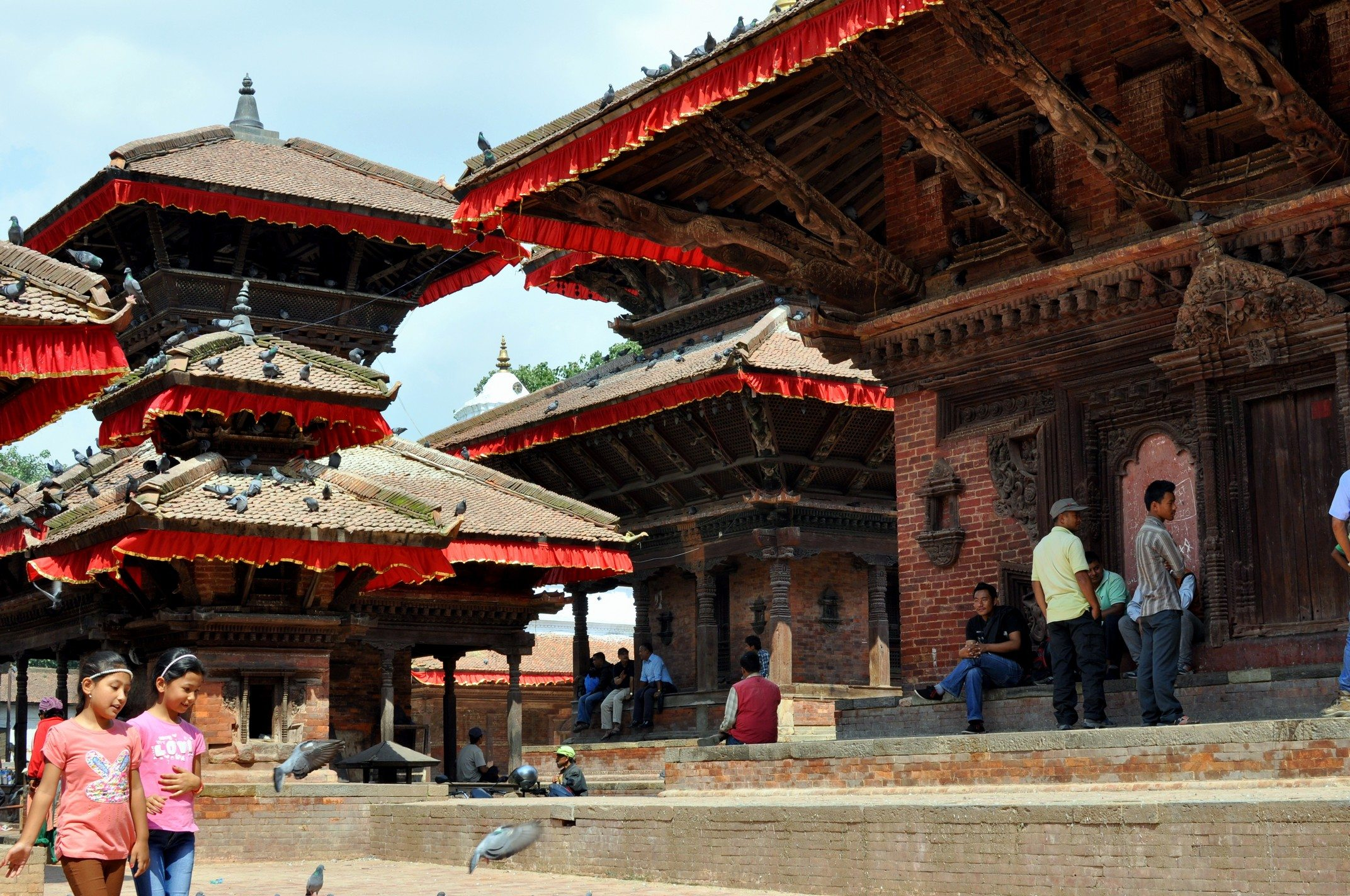 Katmandou, Durbar Square. Temples d'Indrapur, de Jagannath et de Vishnu