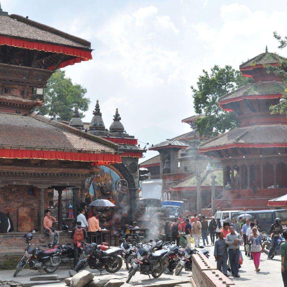 Katmandou, entrée du Durbar Square