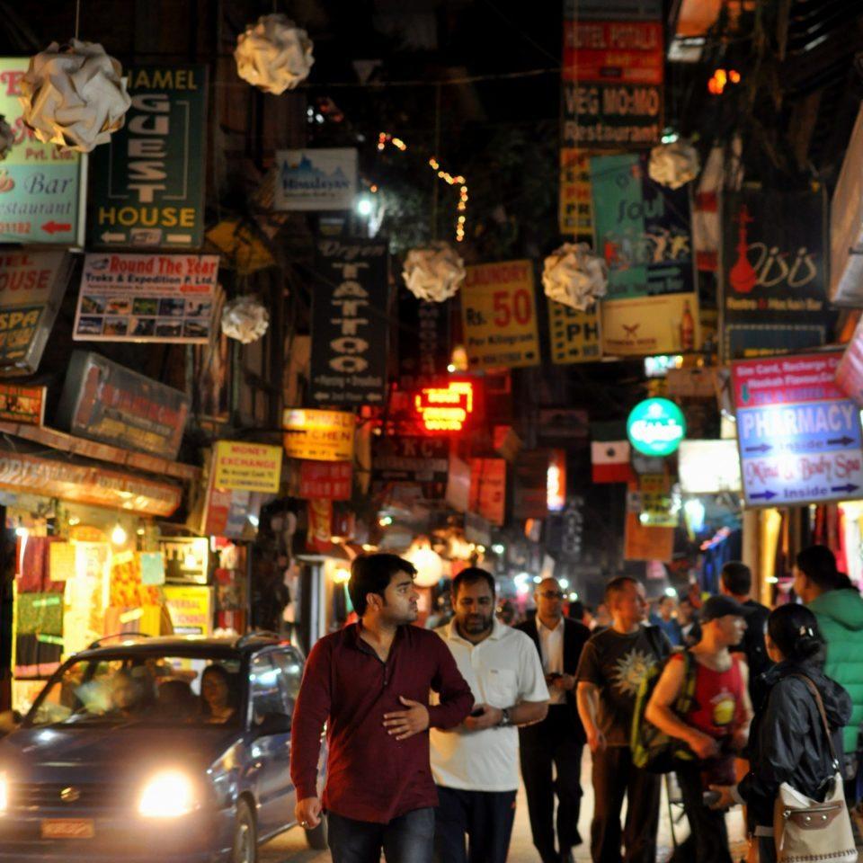 Katmandou, Thamel by night