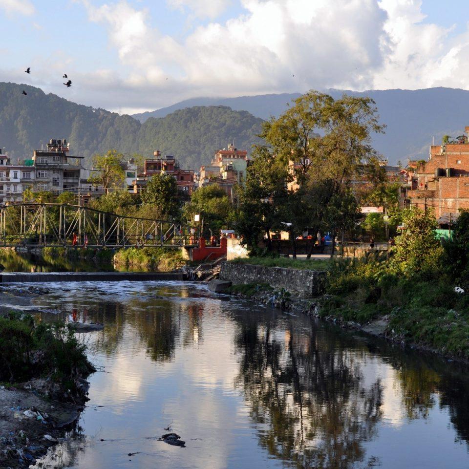 Katmandou, rivière Vishnumati