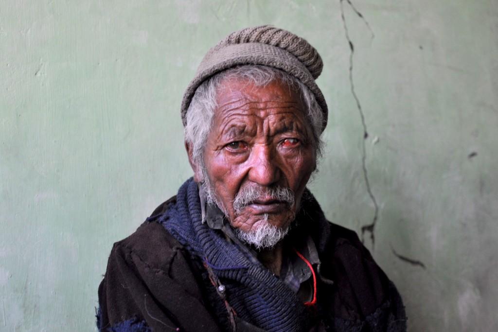 Vallée de la Markha, Homme vénérable de 82 ans, village de Hankar