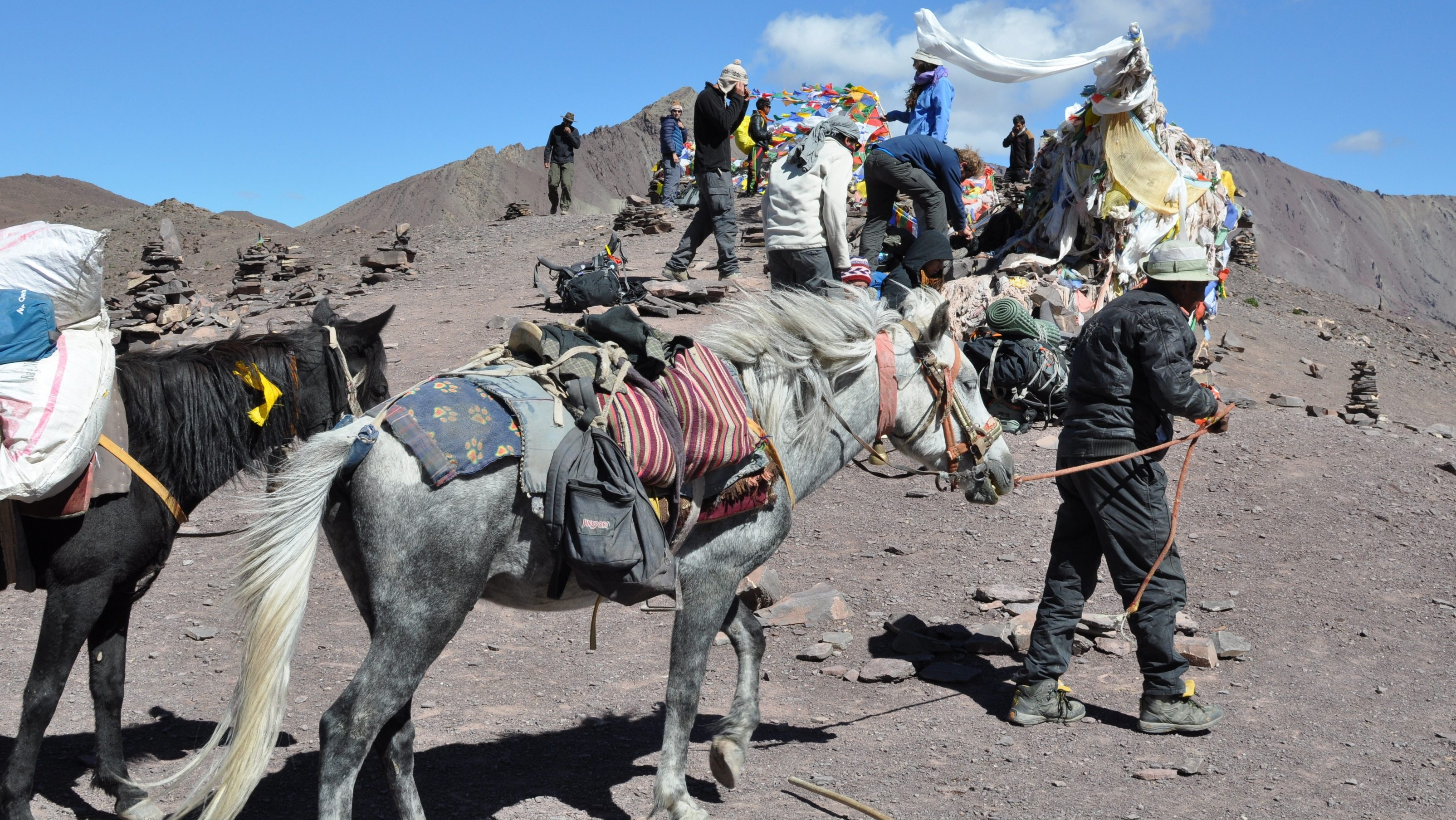 Vallée de la Markha - Passage du col de Kongmaru La (5200m)