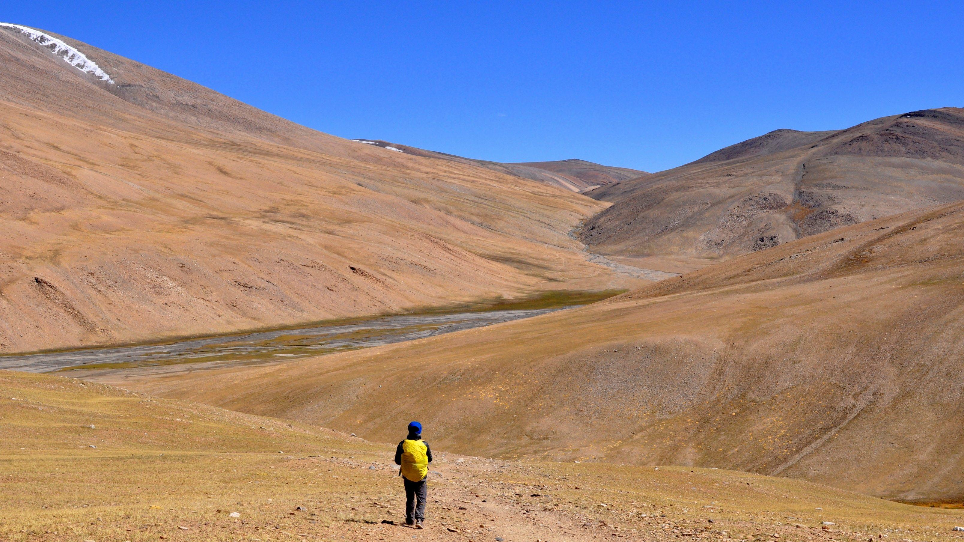 Changtang, Descente vers Gyama Gompa (5150m)