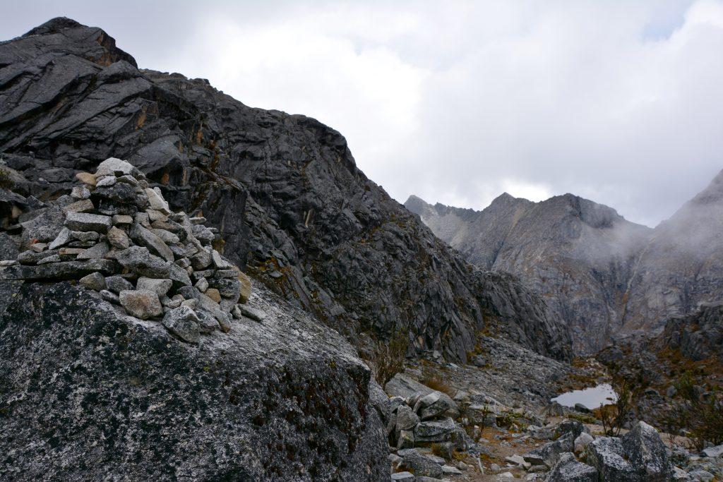 Col (4870m), Trek de l'Alpamayo