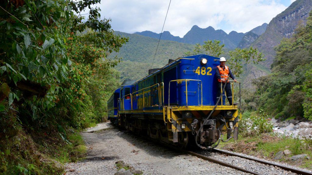trains qui relient Ollantaytambo et Hidroelectricas