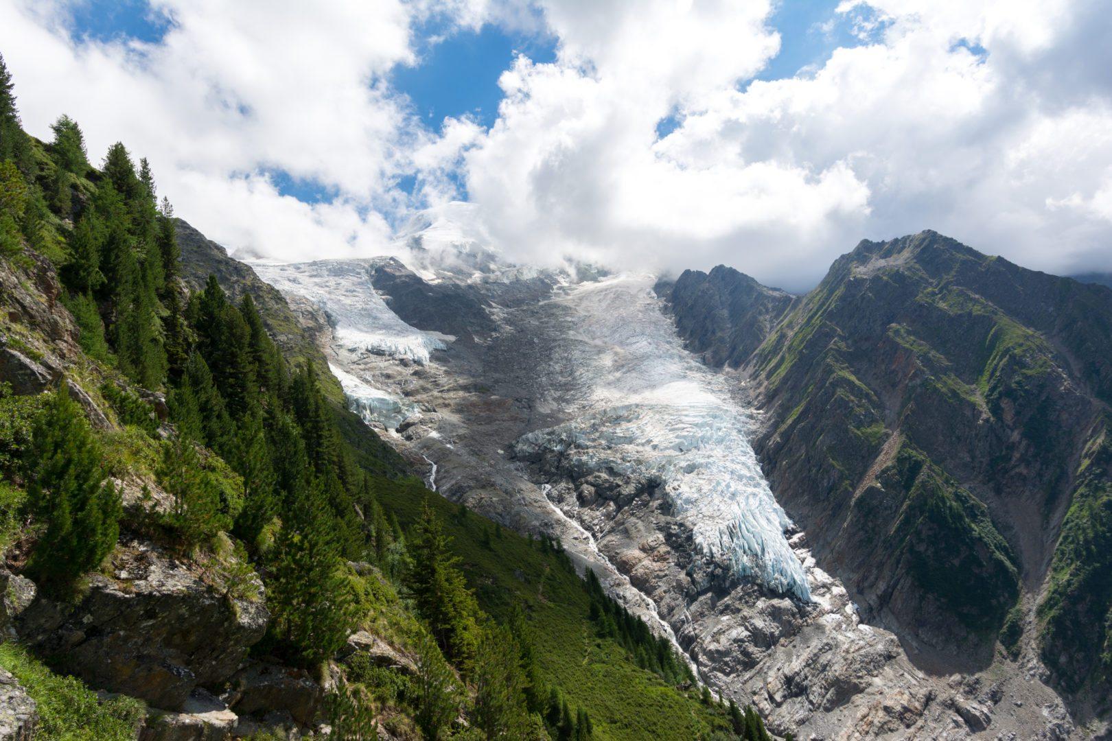 Weekend à Chamonix, glacier de Taconnaz